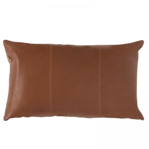 Mika Leather Cushion | Tan | by Klovah