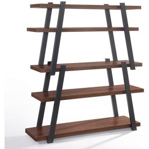 Mikko Bookcase | Walnut + Charcoal Grey | Modern Furniture