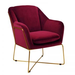 Milan Chair | Velvet and Gold | Marsala