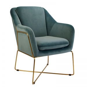 Milan Chair | Velvet and Gold | Steel