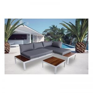 Milano 3 Piece Outdoor Lounge Set | Teak & Aluminium