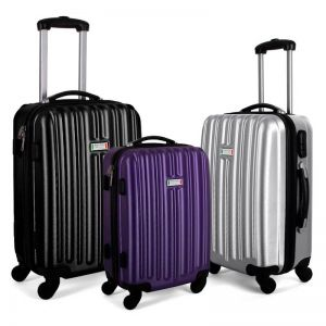 Milano ABS Luxury Shockproof 3 Piece Luggage Set  | Various Colours