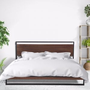 Milano Decor Azure Bed Frame with Headboard   Black   Various Sizes