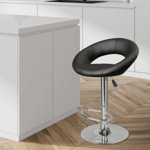 Milano Decor Delilah Circular Arc Adjustable Barstool   Black