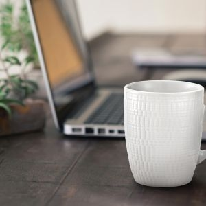 Milano Decor Stoneware 6 Piece Mug Set | White