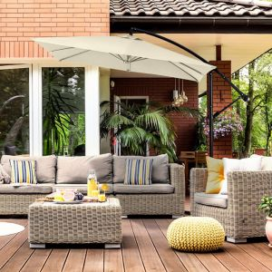 Milano Outdoor 2.2 Meter Square Cantilever Umbrella - Various Colours