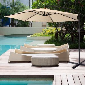 Milano Outdoor 3 Metre Cantilever Umbrella | Various Colours