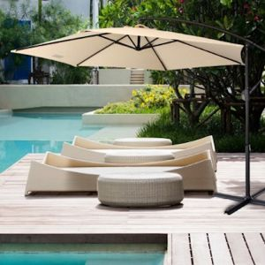 Milano Outdoor 3 Metre Cantilever Umbrella With Bonus Cover | Various Colours