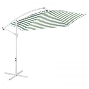 Milano Outdoor Contemporary Striped 3 Meter Cantilever Umbrella | Various Colours