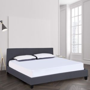 Milano Sienna Luxury Bed Frame With Headboard | Charcoal