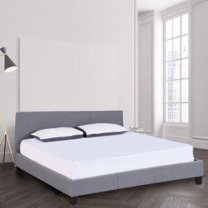 Milano Sienna Luxury Bed Frame With Headboard   Grey