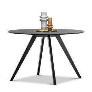 Milari Round Dining Table | Black Oak