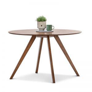 Milari Round Dining Table | Walnut