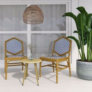 Miley French Flair Outdoor Dining Chair | Set of 2