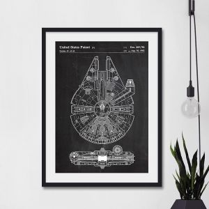 Millenium Falcon Star Wars Patent | Unframed Art Print