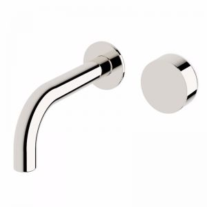 Milli Pure Progressive Wall Basin Mixer Tap System Chrome