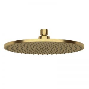 Milli Pure Shower Head 250mm Living Tumbled Brass (3 Star)   Reece