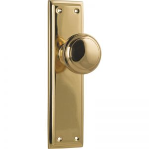 Milton Knob Latch Set | Polished Brass | Schots