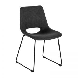 Mindy Chair Metal Black |Anthracite Fabric