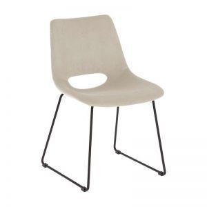 Mindy Chair Metal Black Corduroy Clear Grey