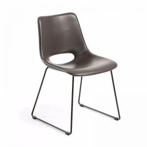 Mindy Chair Metal Black PU Light Brown