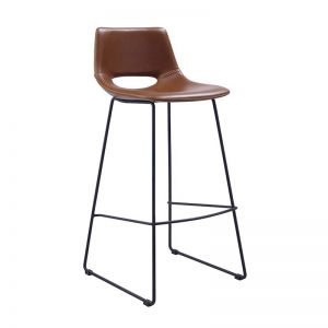 Mindy Stool Metal Black Rust PU