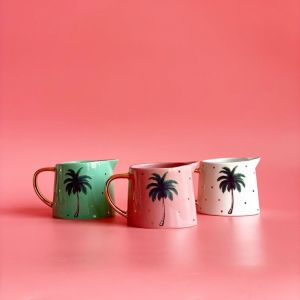 Mini Ceramic Palm Jugs | Set of 3