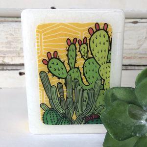 Mini Woodblock | Cactus Sunrise