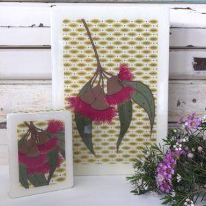 Mini Woodblock | Gum Blossom