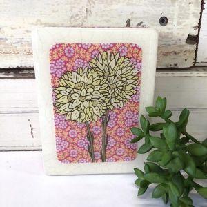 Mini Woodblock | Pompom Everlasting
