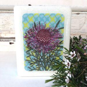 Mini Woodblock | Rose Coneflower