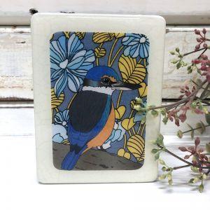 Mini Woodblock | Sacred Kingfisher