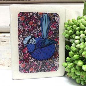 Mini Woodblock | Splendid Fairy Wren