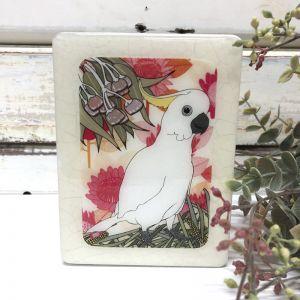 Mini Woodblock | Sulphur Crested Cockatoo
