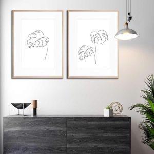Minimal Monstera & Monstera 2 | Framed Prints by United Interiors