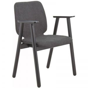 Missie Arm Chair | Black + Dark Grey