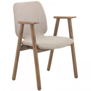 Missie Arm Chair | Cocoa + Light Grey | Modern Furniture