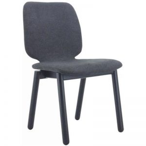 Missie Dining Chair | Black + Dark Grey | Modern Furniture