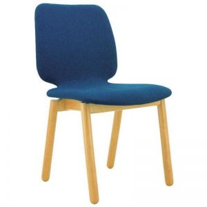 Missie Dining Chair | Oak + Midnight Blue | Modern Furniture