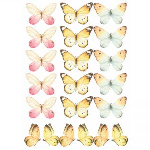 Mixed Butterfly Wall Decal Set | 20pc