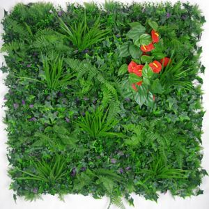 Mixed Jungle Vertical Garden | Green Wall UV Resistant | 1m x 1m