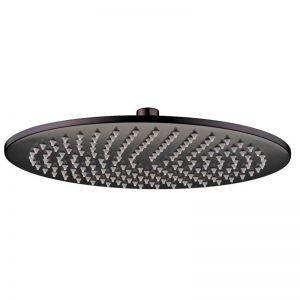 Mizu Drift Brass Overhead Shower Matte Black   Reece