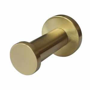 Mizu Drift Robe Hook Brushed Gold | Reece