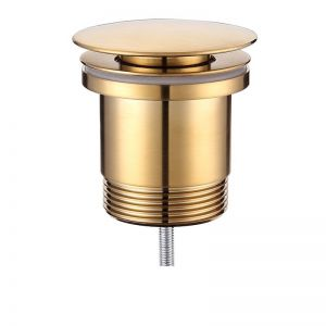 Mizu Drift Universal DN40 Dome Pop Up Plug & Waste Brushed Gold