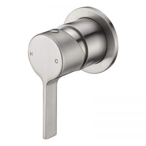 Mizu Stream Shower Mixer Tap Brushed Nickel