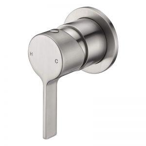 Mizu Stream Shower Mixer Tap Brushed Nickel