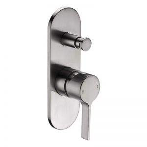 Mizu Stream Shower Mixer Tap with Diverter Brushed Nickel