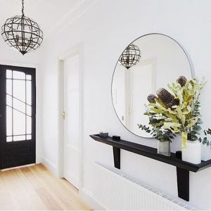 Modern Circular Mirror | Bright White | 120 cm