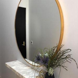 Modern Circular Round Mirror | Brass 120cm