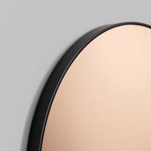 Modern Circular Round Mirror | Copper Tinted Mirror Glass